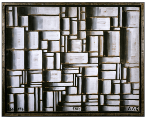 Joaquín Torres-García, Construction in White and Black, 1938. Oil on paper mounted on wood. 80.7 x 102 cm. The Museum of Modern Art, New York. Gift of Patricia Phelps de Cisneros in honour of David Rockefeller, 2004. Photo Colección Patricia Phelps de Cisneros