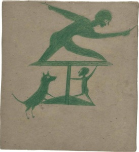 bill-traylor-1854-1949-green-construction-with-two-men-and-a-dog-1939-1942